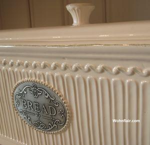 bread shabby chic brotkasten brottopf keramik brotbox vorratsdose neu ebay. Black Bedroom Furniture Sets. Home Design Ideas